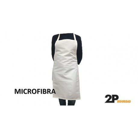DELANTAL MICROFIBRA IMPERMEABLE BLANCO IDEAL IMPRESION
