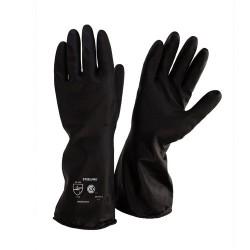 Guante Latex Industrial Pesado Negro Interior Naranja T10