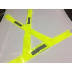 BANDOLERA VIAL REFLECTIVA CON ELASTICO PVC