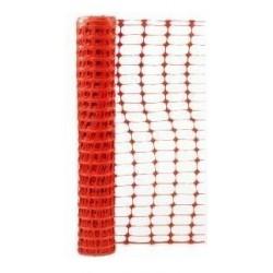 MALLA RETICULADA PLASTICA NARANJA ROLLO DE 1 METRO X 45 DE LARGO