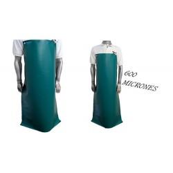 DELANTAL PVC 600 MICRONES 1.20 X 0.70 verde