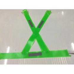 BANDOLERA SEGURIDAD VIAL PVC VERDE CON REFLEX