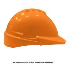 Casco Libus Modelo Milenium Con Arnes Simples Naranja